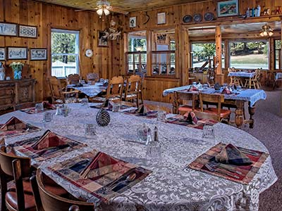 Dining Room at St. Bernard Lodge