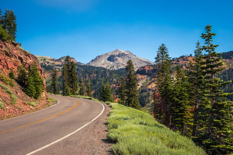 Lassen Volcanic National Park road
