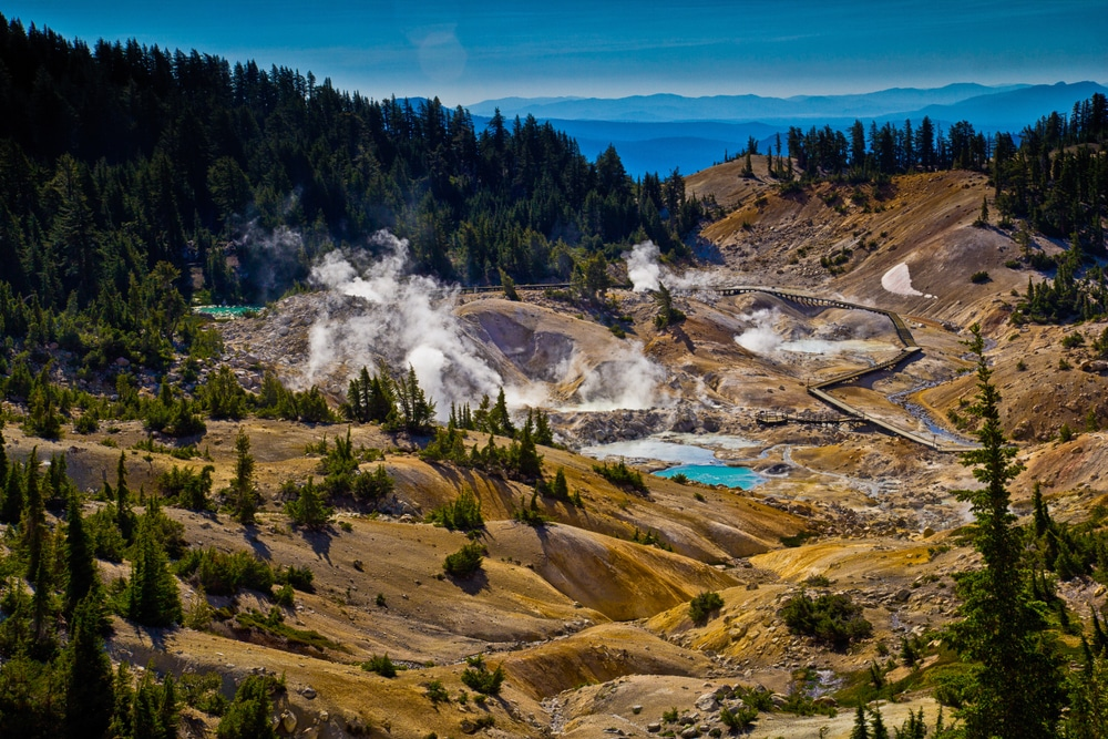 Hike to Bumpass Hell Hydrothermal Area in Lassen Volcanic National Park